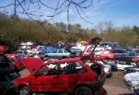 Scrap yard full of Cars for recycling